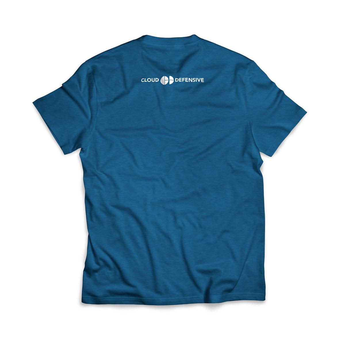 Cloud Defensive Logo T-shirt Back Blue