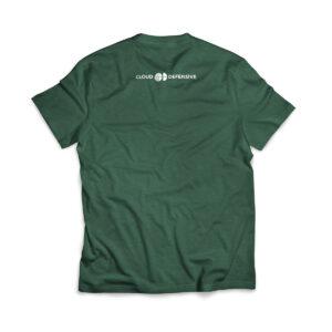 Cloud Defensive Logo T-shirt Back Green