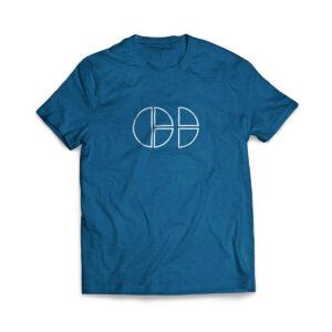 Cloud Defensive Logo T-shirt Front Blue
