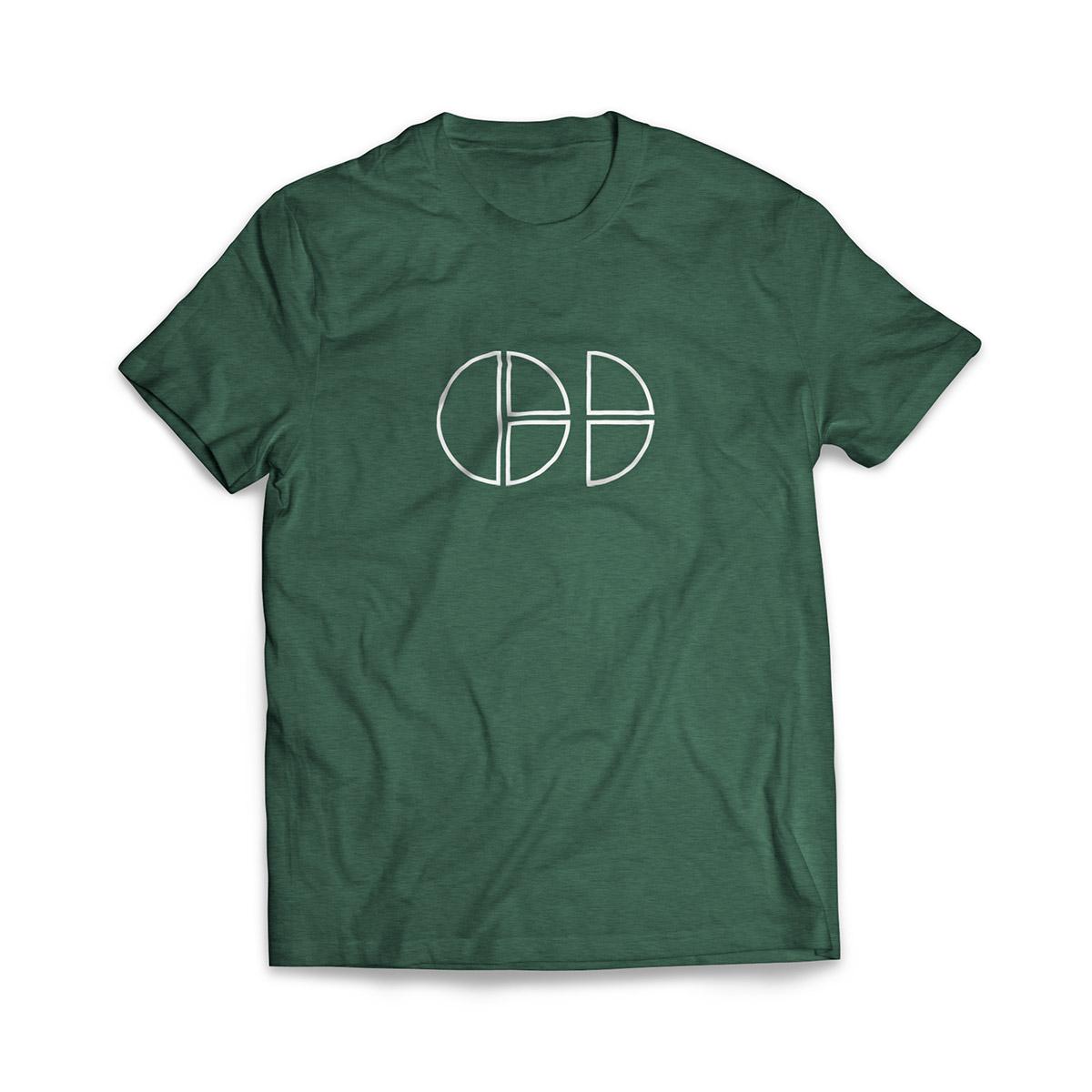 Cloud Defensive Logo T-shirt Front Green